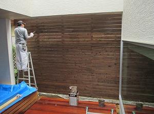 杉板・塗装工事